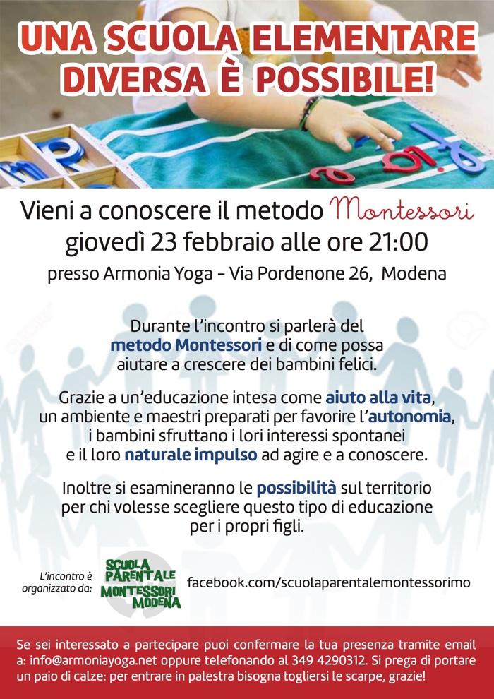 yoga modena montessori gravidanza educazione meditazione