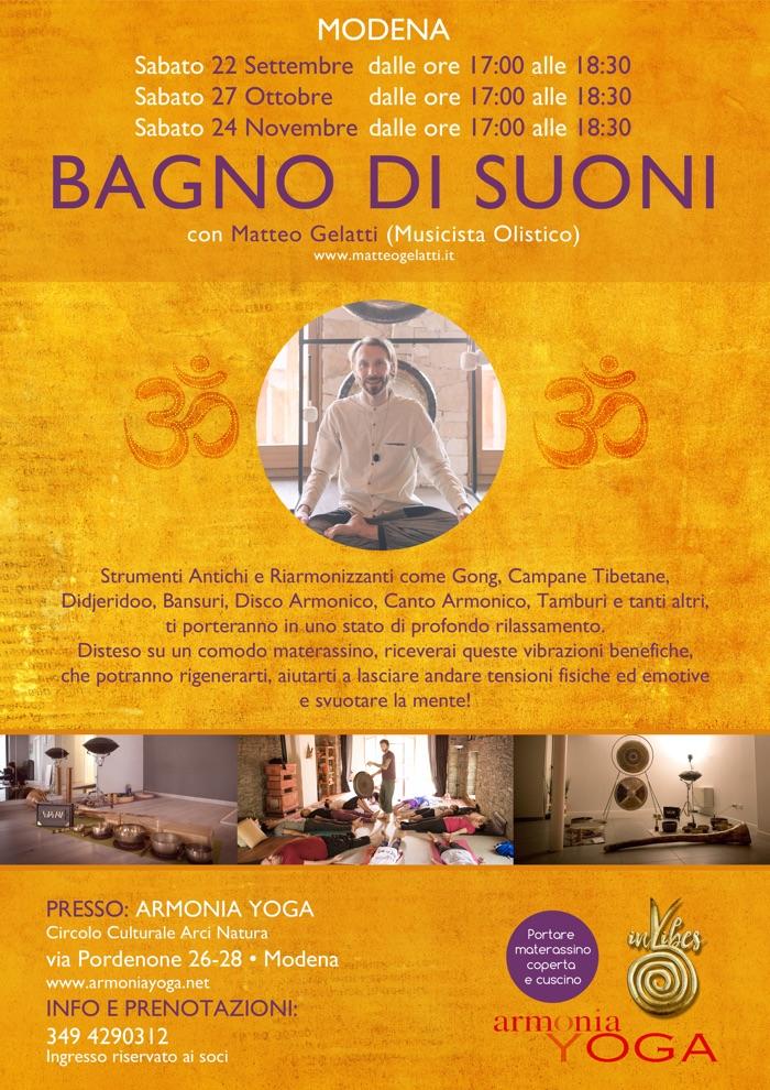 bagno suoni gong modena yoga armonia meditazione rilassamento